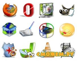 Коллекция 3D иконок