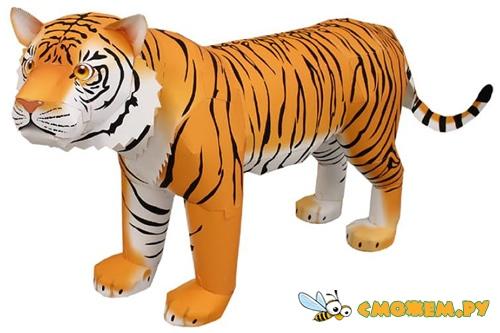3D Тигр из бумаги