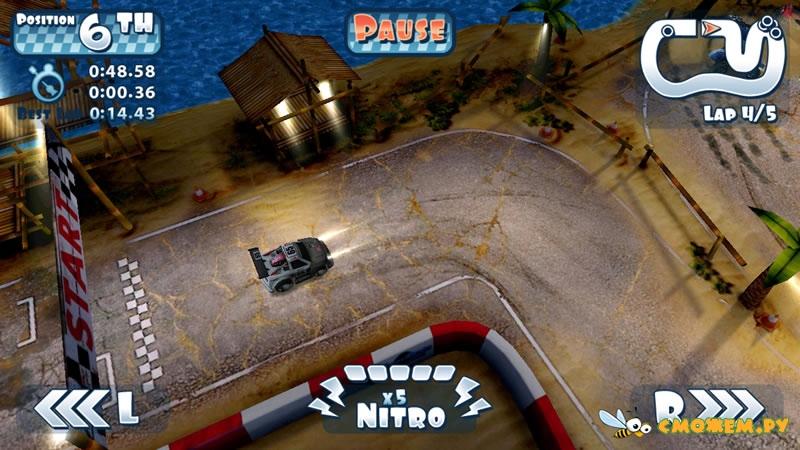 Взломанный Mini Motor Racing. Free-apk.net - взломанные игры для андроид.